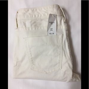 Banana Republic White Crop Skinny Jeans 25P NEW